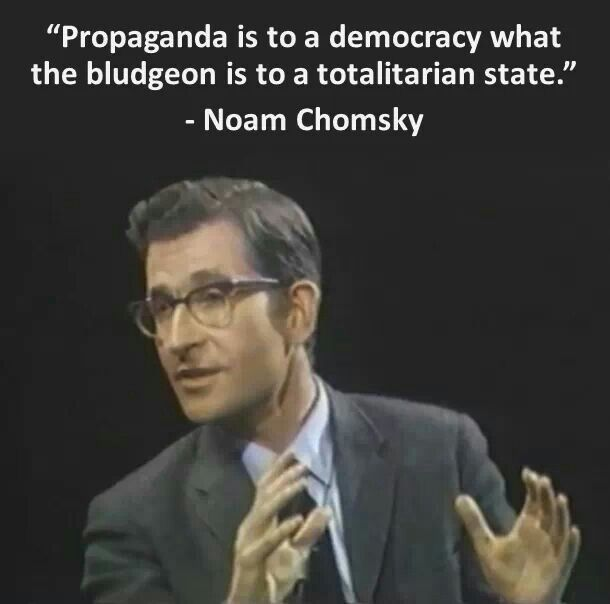 the use of noam chomskys propaganda In this lesson, you will learn about the key theories of language development put forth by noam chomsky following this lesson, you will have the.