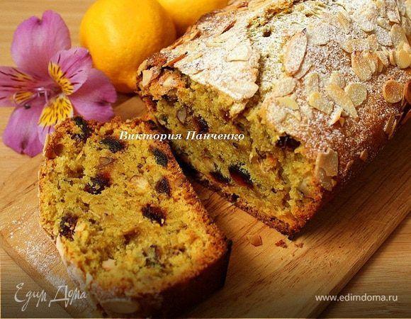 Постная лимонная коврижка. Ингредиенты: пшеничная мука, сахар, растительное масло | Кулинарный сайт Юлии Высоцкой: рецепты с фото