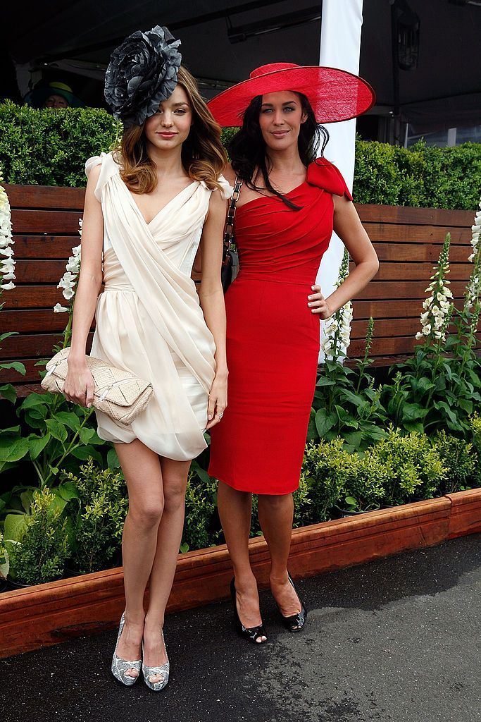 celebrities at the races. Miranda Kerr and Megan Gale