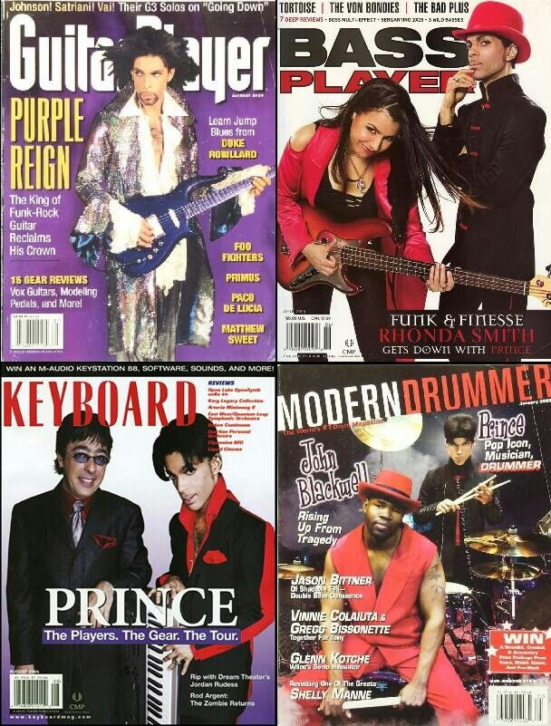 Prince. Guitar. Bass. Keyboard. Drums = One super talented artist!!  <3
