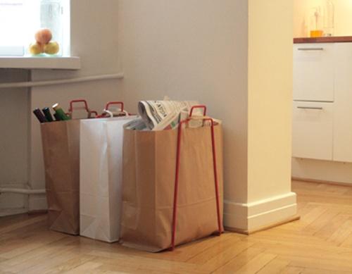 Helsinki paper bag holder. Design by Helena Mattila. Made in Finland.