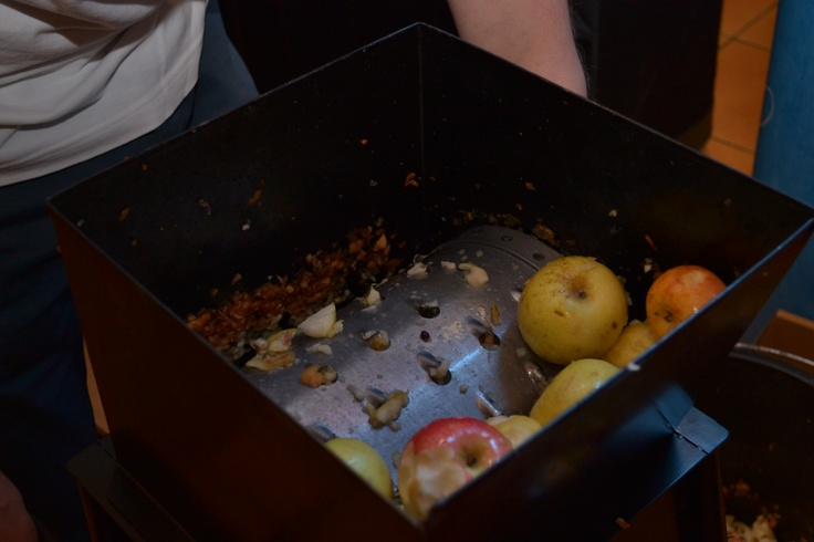 Pentru cei ce (încă) nu erau convinşi că sucul din Fructe Naive este 100% natural, le-am dat suc de mere proaspăt stors la teasc, ca să vadă că ce iese din teasc e şi în sticle.