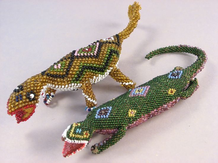 Bead Crochet - Turkish POW Lizards