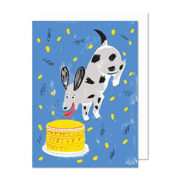 WOOF. Dog. Chien. Carte de souhaits.  Greeting card