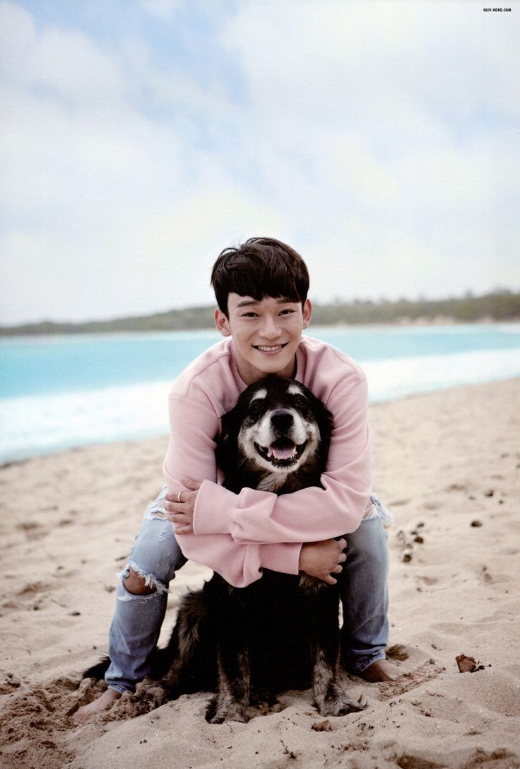 Pretty sure everyone wants to be this dog on their holiday lol! Baby Chen | EXO Dear Happiness photobook 2016 <3