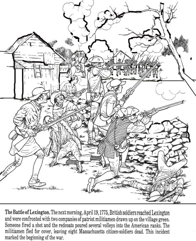 american revolution coloring pages # 67