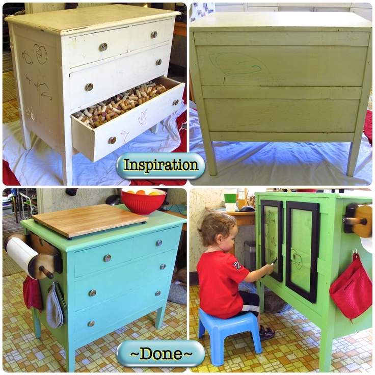 Ingenious Repurposing Unusual Kitchen Islands And Printers: 96 Best Images About Old Dresser Into Kitchen Island On