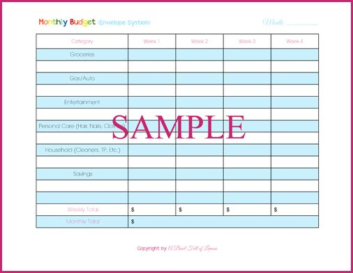 Monthly Budget Worksheet | diy | Pinterest