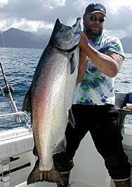 Alaska king salmon fishing in Haines, Alaska