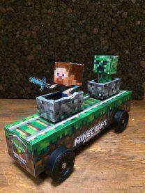 Pinewood derby car- minecraft ideas