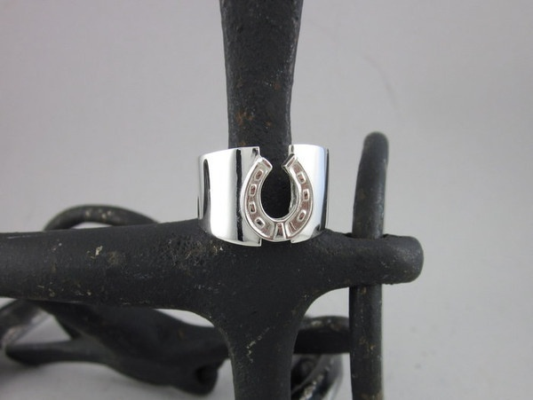 ER27 - Wide Band and Horse Shoe Ring | The Cambridge Collection