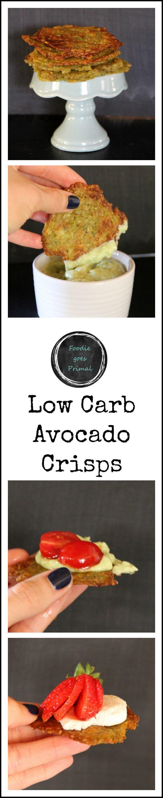 Low Carb Avocado Crisps - ripe Hass avocados, salt, finely grated hard cheese (e.g. Grana Pedana/Parmesan), lemon zest, black pepper