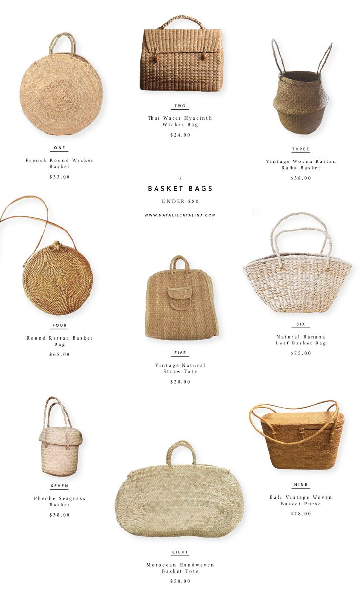 Nine Basket Bags Under $80.00 on Natalie Catalina