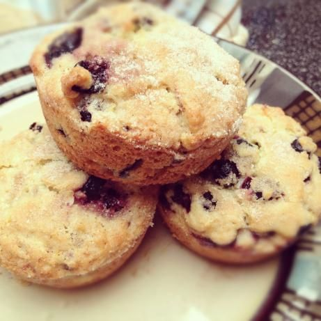 Saskatoon Berry Muffins from Food.com: This is a recipe I received from my neighbour who sells saskatoons.