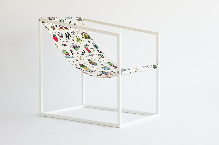 Graphic armchair by Atelier Mustata