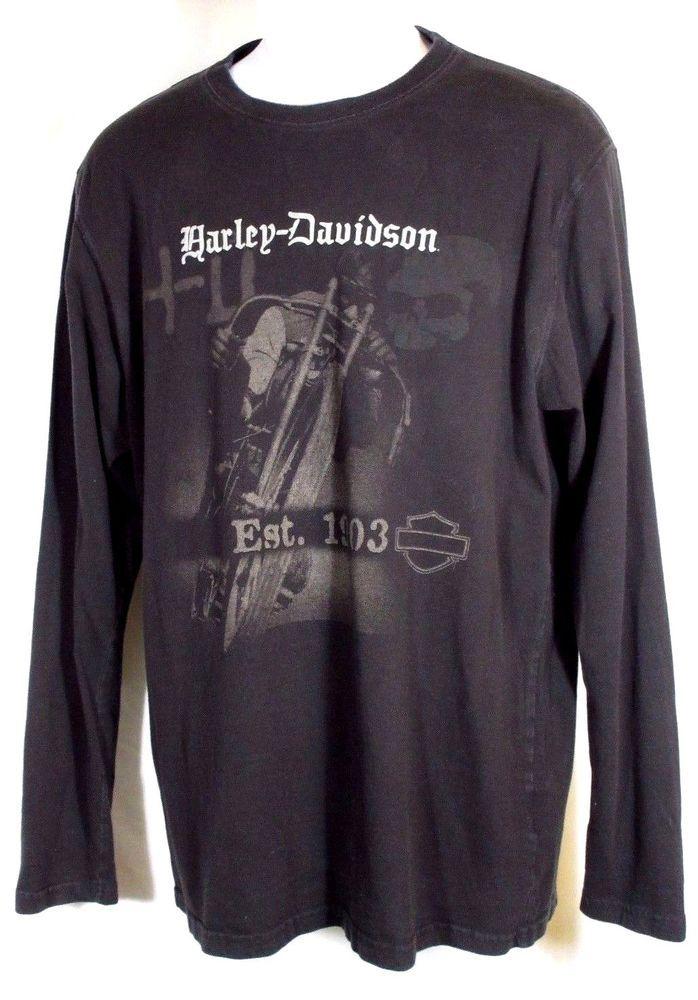 Mens Harley Davidson Shirt XL Gray and Black Embroidered Polo Harley Davidson Mens Shirt Henley Harley Dealer Dress Shirt Mens Sz XL 36gytQssQ