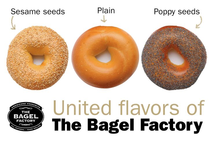 United flavors of The Bagel Factory