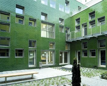 green glazed bricks