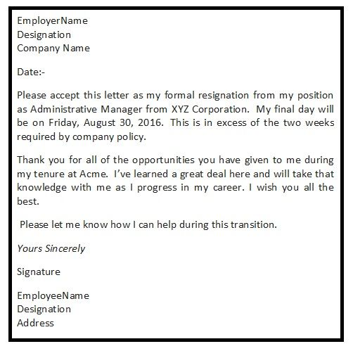 25+ unique Sample of resignation letter ideas on Pinterest - quick tips writing resignation letters