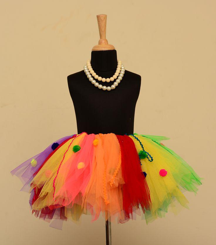 Candyland Tutu Skirt. #babygirls #stylemylo #onlineshopping #tutu #kidsfashion #kids #partywear #designearwear