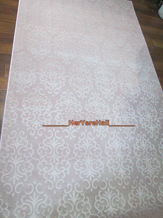 HerYereHalı ~ Soft Roseland Butik SPudra 120cm Kesme Yolluk