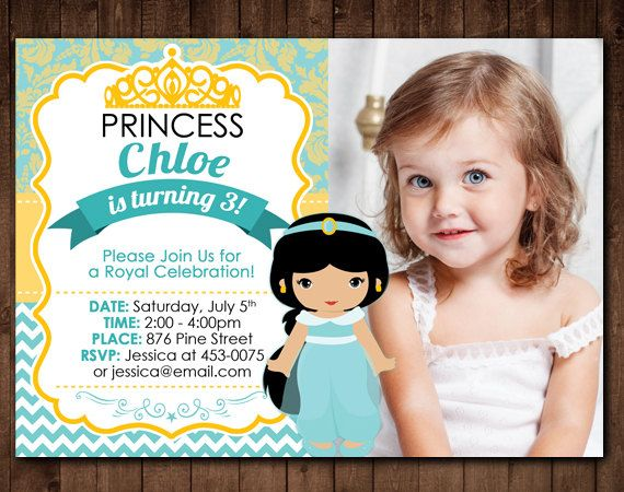 Free Resume Cover Letter » Jasmine Birthday Party Invitation Best Of Princess  Jasmine Party Invitations Mickey Mouse Invitations New Disney Donna Kay  Disney ...
