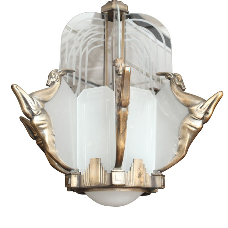 Modern Art Deco Chandelier