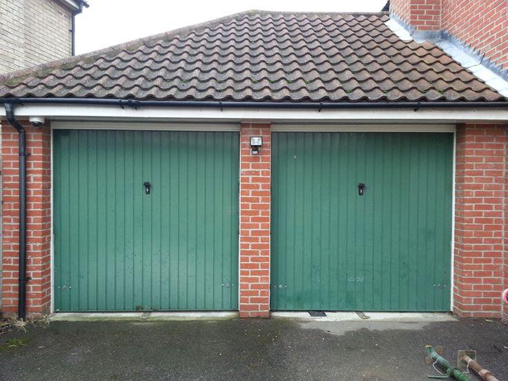 Before - two single garage doors
