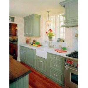 Painted Sage Green Kitchen Kitchen, Holiday Kitchens