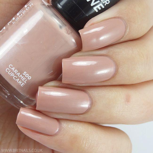 Rimmel caramel cupcake nail polish swatch