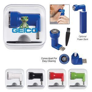 The Mini USB Shaver Kit! Great for business travelers. Includes Shaving Razor And Cleaning Brush. 360.. Design Shaver Head. Connect To Any Standard USB Device. Convenient Travel Size. Comes Apart For Easy Cleaning. 2018's best trade show giveaways #tradeshow giveaways