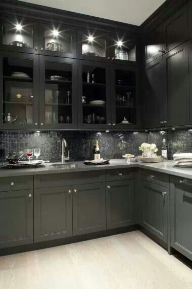 Grey kitchen. If only my kitchen wasn't so small