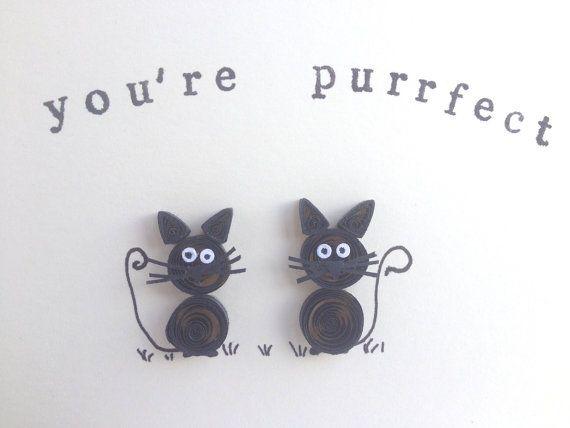 Tarjeta gatos negros