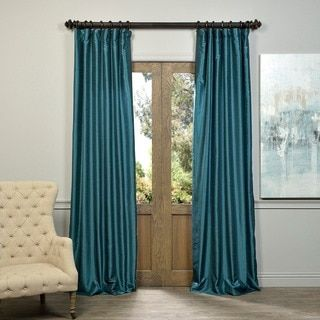 Exclusive Fabrics Solid Faux Silk Taffeta Mediterranean Curtain Panel | Overstock.com Shopping - The Best Deals on Curtains