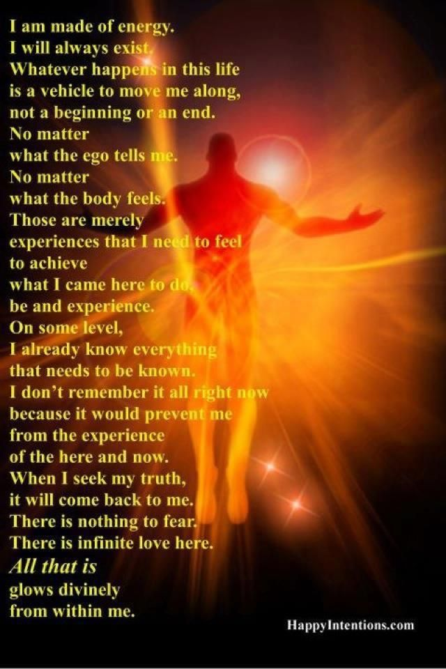 There is nothing to fear. There is infinite love here.