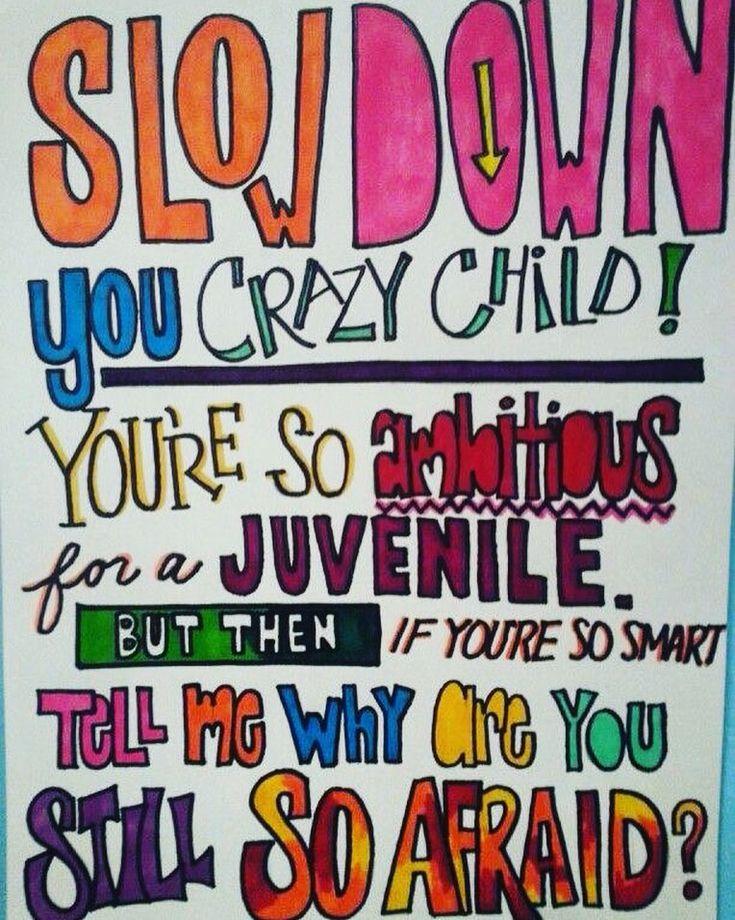 Billy Joel 1977.  #HappyMonday #MondayMantra #lyrics #Vienna #BillyJoel #1977 #slowdown #wordstoremember by @gabriela_godinho_moxon via http://ift.tt/1RAKbXL