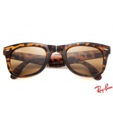 Ray Ban RB4105 Wayfarer Folding Classic sunglasses online with tortoise frame and brown lenses