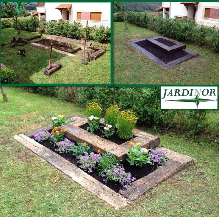 Construcci n de jardinera con traviesas de tren - Ideas para jardineras ...