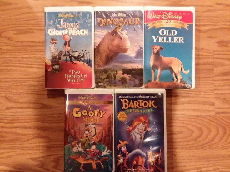 Walt Disney Movies Classics VHS Tapes Lot of 5 NICE Collector's Gift