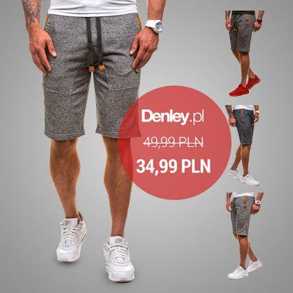 Modne i wygodne spodenki z kolekcji Denley.pl mogą być Twoje za 34,99. Zobacz naszą promocję i oszczędź nawet 30% ➡ http://bit.ly/GrafitoweSpodenkiMeskie