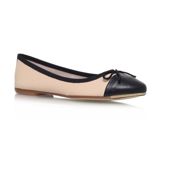 Carvela Kurt Geiger Law Flats ($74) ❤ liked on Polyvore featuring shoes, flats, nude, ballet shoes, nude ballet pumps, cap toe flats, cap toe ballet flats i ballet pumps