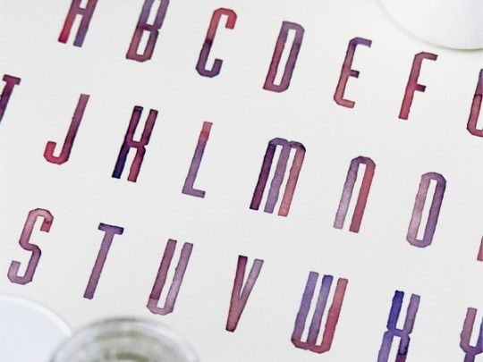 Sasha Prood, beautiful watercolor letters.