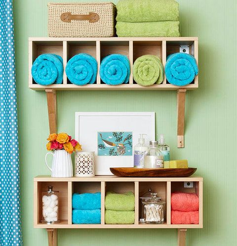 Click Pic for 30 Small Bathroom Decorating Ideas - Colorful Displays - Small Bathroom Remodel Ideas