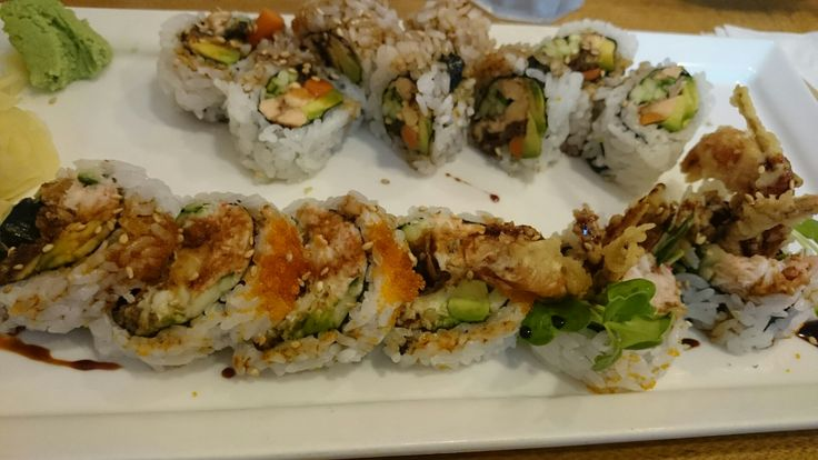 I got the Salmon Skin Roll, Spider Roll, and Inari at Oto Sushi...nothing stood out - the salmon skin wasn't all that crispy, but did have chunks of salmon in the roll, which was nice.