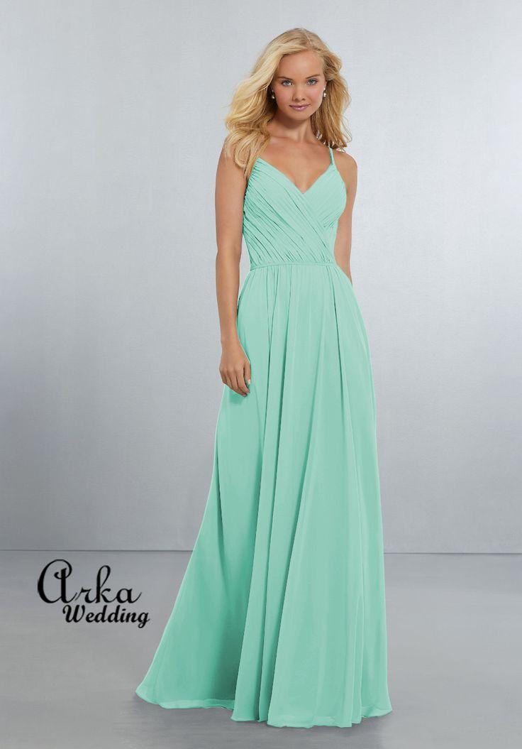 Βραδινό Φόρεμα, Chiffon Χρώμα Seaglass. Κωδ. 21556