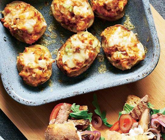 Cheesy chipotle potato skins | ASDA Recipes