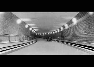 Completed in 1930, the Detroit-Windsor Tunnel is the only automotive highway in the world that crosses international borders. It expands for almost a mile. At it's lowest point, it sits 75 feet below the water's surface.
