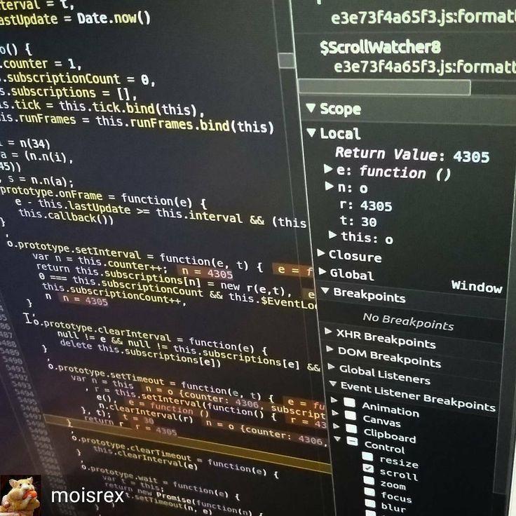 "by @moisrex: ""Oh I hate debugging minified codes."" . . . #react #reactjs #code #debug #debugging #coder #programming #programmer #javascript #js #web #dev #developer"