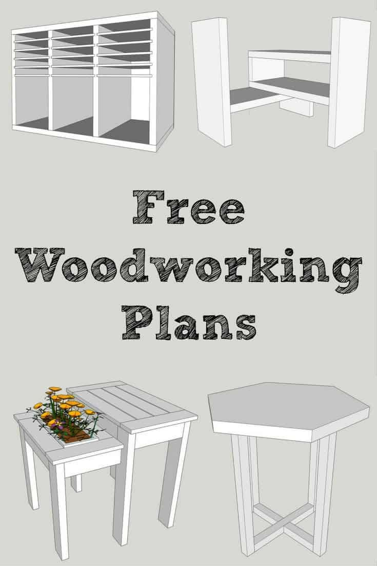 Want easy-to-read woodworking plans of these projects? Sign up at The Handyman's Daughter and get access to all the plans in her woodworking plans library! Download and print the PDF of each project and get building!   building plans   furniture plans   furniture projects   #woodworking   #woodworkingprojects   #woodworkingplans