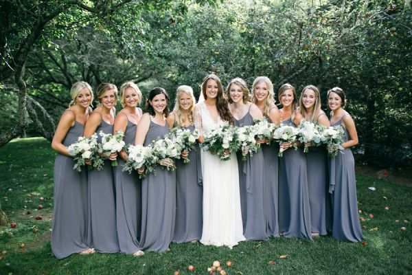 Slate Blue Bridesmaid Dresses | photography by http://www.langthomasphotography.com/